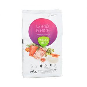 pienso natura diet lamb rice para perros