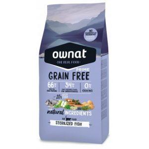 pienso ownat grain free prime fish sterilized para gatos