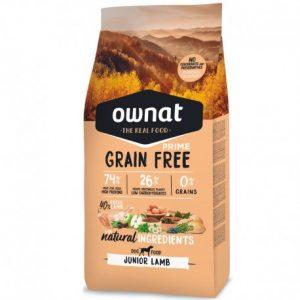pienso ownat grain free prime Junior lamb para cachorros