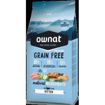 Pienso ownat grain free prime kitten para gatitos