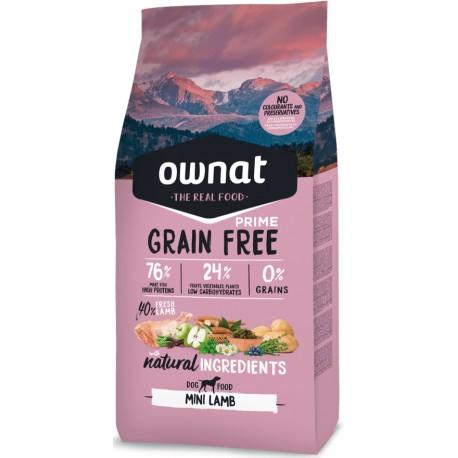 pienso ownat grain free prime mini lamb para perros