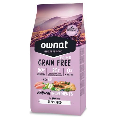 pienso ownat grain free prime sterilized para gatos