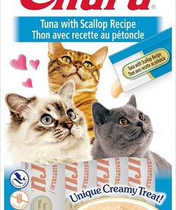 snack churu atun con vieiras para gatos