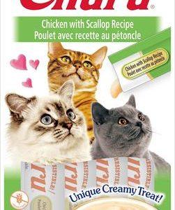 snack churu pollo con vieiras para gatos