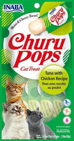 snack churu atun con pollo para gatos