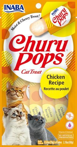 snack churu pops pollo para gatos