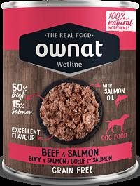 comida húmeda ownat buey y salmón para perros
