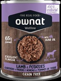 comida humeda ownat cordero y patatas para perros
