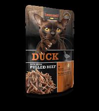 comida humeda leonardo pato con extra de ternera para gatos