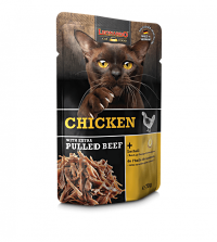 comida húmeda leonardo pollo con extra de ternera para gatos