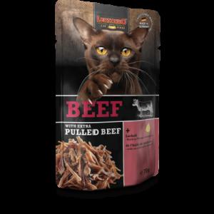 comida húmeda leonardo ternera con extra de ternera para gatos