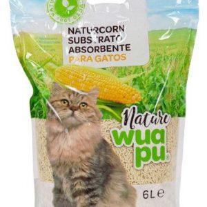 arena absorbente naturcorn para gatos