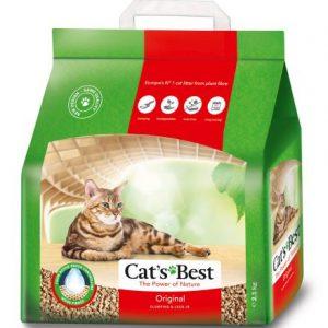 arena aglomerante cat's best oko plus para gatos