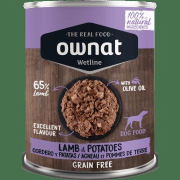 comida húmeda ownat wetline cordero y patata para perros