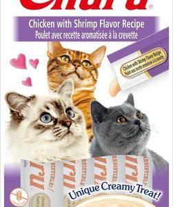 snack churu pollo con gambas para gatos