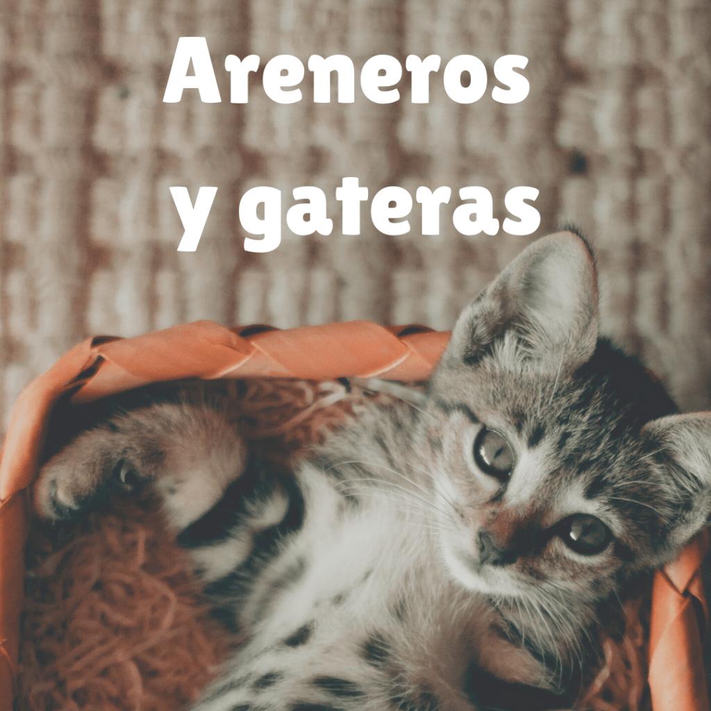 areneros para gatos y gateras